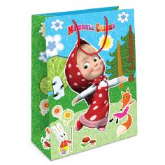 Пакет подарочный Маша и Медведь, Лесная сказка Маши