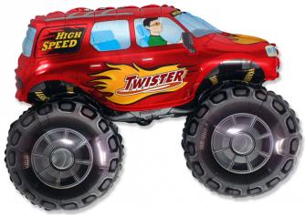 Шар Фигура, Большой внедорожник (красный) / Big wheel (в упаковке)