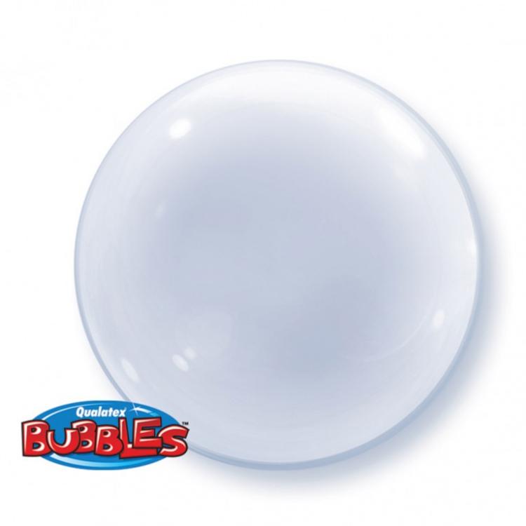 Сфера 3D Deco Bubble (бабл) 100% Прозрачный в упаковке / Qualatex