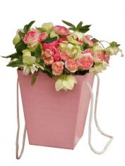 Набор коробок для цветов Розовый