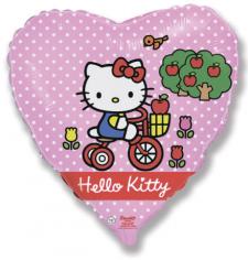Шар Сердце, Хелло Китти на велосипеде / Hello Kitty