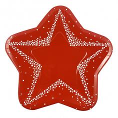 Тарелки-Звезды бумажные ламинированные