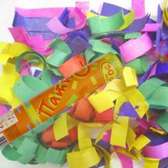 Пневмохлопушка в пластиковой тубе бумажное конфетти