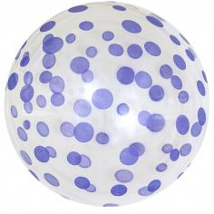 Шар Сфера 3D, Deco Bubble Сиреневое конфетти, Прозрачный Кристалл / 1 шт