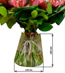 Вазочка для букета одноразовая (пластик)