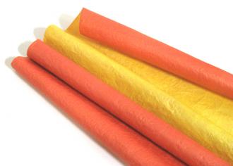 Бумага Эколюкс (жатая) матовая Красный / Желтый