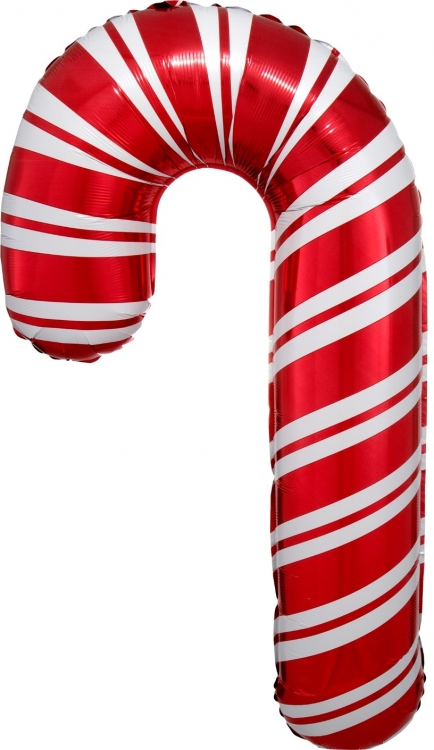 Шар Фигура, Леденец трость, Красный (в упаковке)