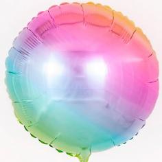 Шар Круг, Радуга нежный градиент / Rainbow gradient (в упаковке)