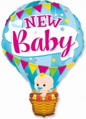 Шар Фигура, Воздушный шар для мальчика, Голубой