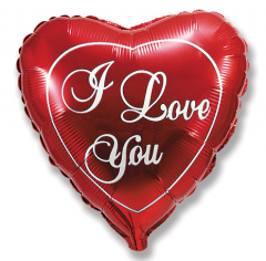 Шар Сердце, Любовь (красное) / Love