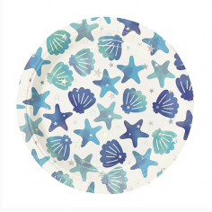 Тарелки бумажные ламинированные