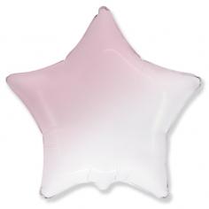 Шар Звезда, Бело-розовый градиент / White-Pink gradient (в упаковке)