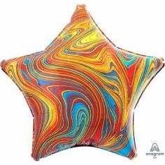 Шар Звезда, Мрамор Colorful (в упаковке)