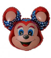 Шар фигура, Бабси-маус (красный) / Mouse (в упаковке)