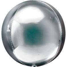 Шар Сфера 3D, Металлик Серебряный / Silver