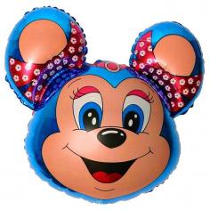 Шар Фигура, Бабси-маус (синий) / Mouse (в упаковке)