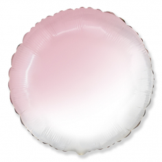 Шар Круг, Бело-розовый градиент / White-Pink gradient (в упаковке)