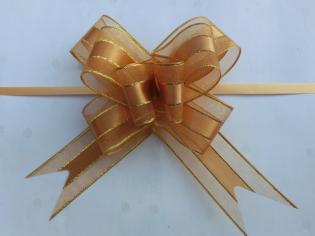 Бант-бабочка Текстиль С золотой полоской