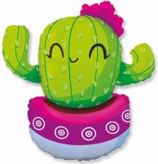 Шар Фигура, Счастливый кактус, Розовый