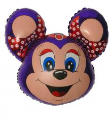 Шар фигура, Бабси-маус (фиолетовый) / Mouse (в упаковке)