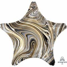 Шар Звезда, Мрамор Black (в упаковке)