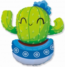Шар Фигура, Счастливый кактус, Голубой
