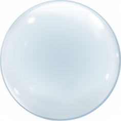 Шар Сфера К BUBBLE, Прозрачный / Clear