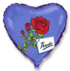 Шар Сердце, Роза спасибо / Rose thanks