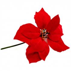 Пуансеттия Текстиль Красная