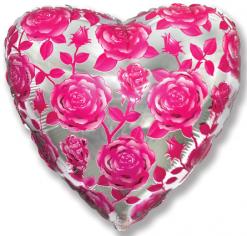 Шар Сердце, Розы (фуксия) / Poses