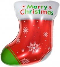 Шар Фигура, Новогодний носок для подарков, Красный (в упаковке)
