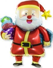 Шар Мини-фигура, Веселый Дед Мороз с подарками (в упаковке)