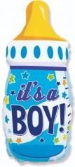 Шар Фигура Бутылочка для мальчика, Звездочки / Boy (в упаковке)