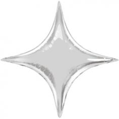 Шар Звезда, 4х-конечная Серебро