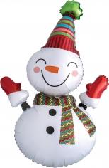 Шар Мини-фигура, Веселый снеговик (в упаковке)