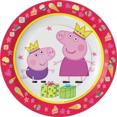 Тарелки одноразовые Пеппа Принцесса (упаковка с хедером)