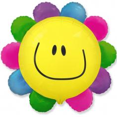 Шар Мини-фигура Цветик - многоцветик (солнечная улыбка) / Rainbow flower (в упаковке)
