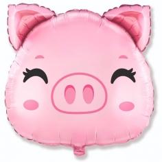 Шар Мини-фигура, Свинка голова (в упаковке)