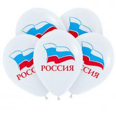 Шар Триколор Россия, 2 цв 1 ст