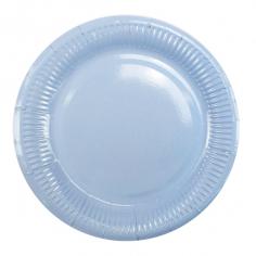 Тарелки бумажные ламинированные Голубая / Light Blue