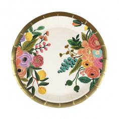 Тарелки бумажные ламинированные Цветы 6шт