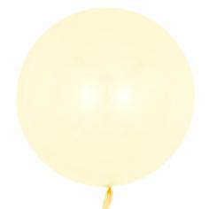 Шар Сфера 3D, Deco Bubble, Желтый, Кристалл (в упаковке)