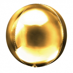 Шар Сфера 3D, Металлик Золото / Gold / 1 шт
