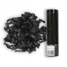 Пневмохлопушка Черное конфетти