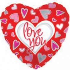 Шар Сердце, Я люблю тебя (причудливые сердца), Красный