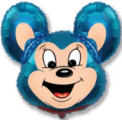 Шар фигура, Мощный мышонок / Mouse (синий) (в упаковке)