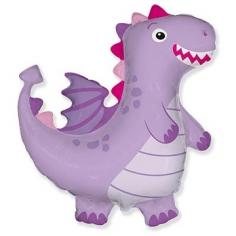 Шар Фигура, Динозаврик, Фиолетовый (в упаковке)