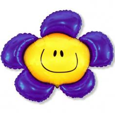 Шар Мини-фигура Цветочек (солнечная улыбка) фиолетовый / Flower (в упаковке)