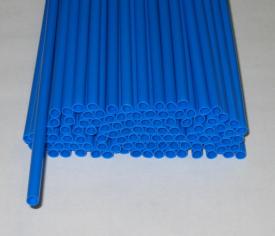 Трубочка полимерная для шаров, флагштоков и сахарной ваты СИНЯЯ