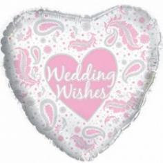 Шар Сердце, Свадебные пожелания, Белый
